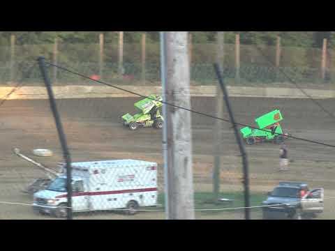 Moler Raceway Park | 7/13/18 | Fan Night | Ohio Thunder IMCA Racesaver Sprint Car Series Heat 1