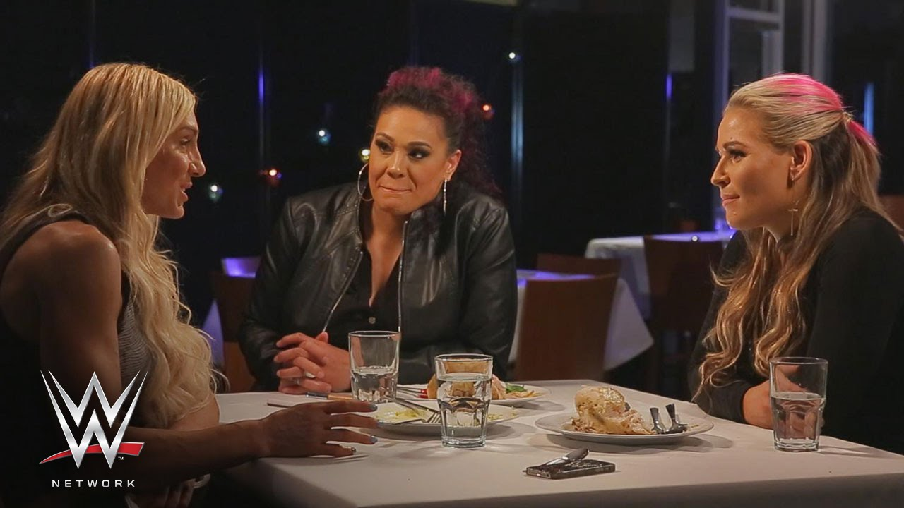 wwe network natalya talks candidly about her current role in wwe on table for 3 youtube. Black Bedroom Furniture Sets. Home Design Ideas