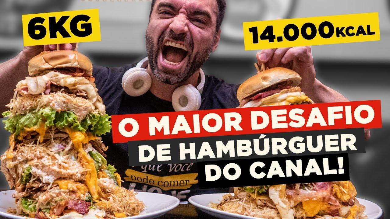 O MAIOR DESAFIO DE HAMBÚRGUER DO CANAL!! [6KG] Valendo R$1000