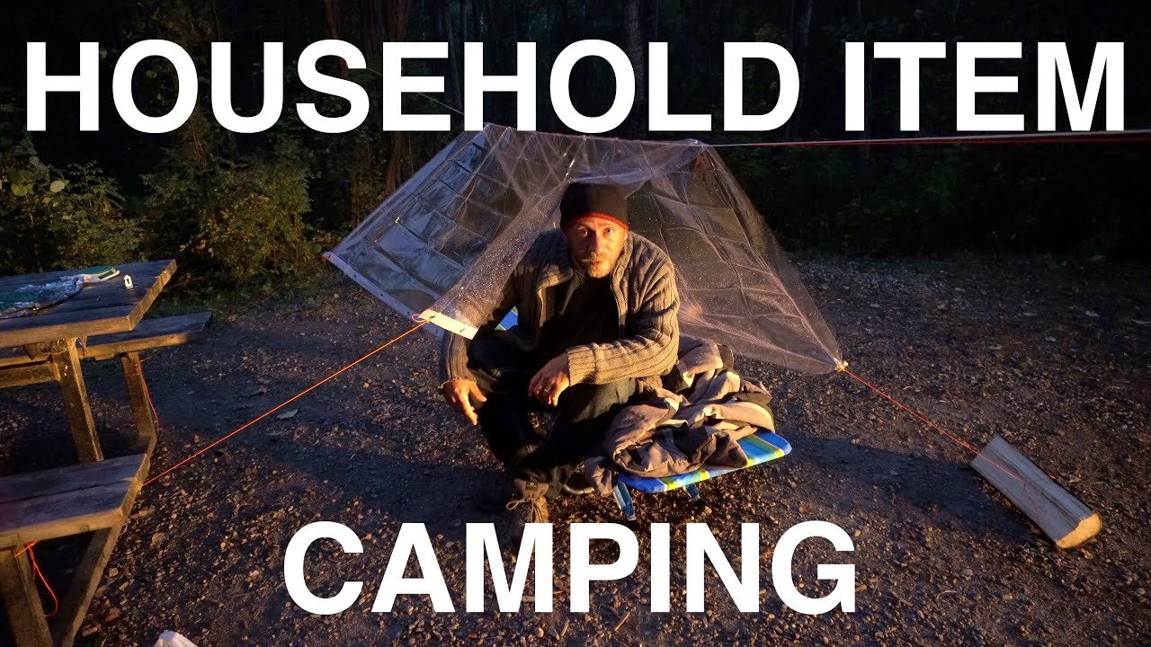 Camping With Household Items - No Gear