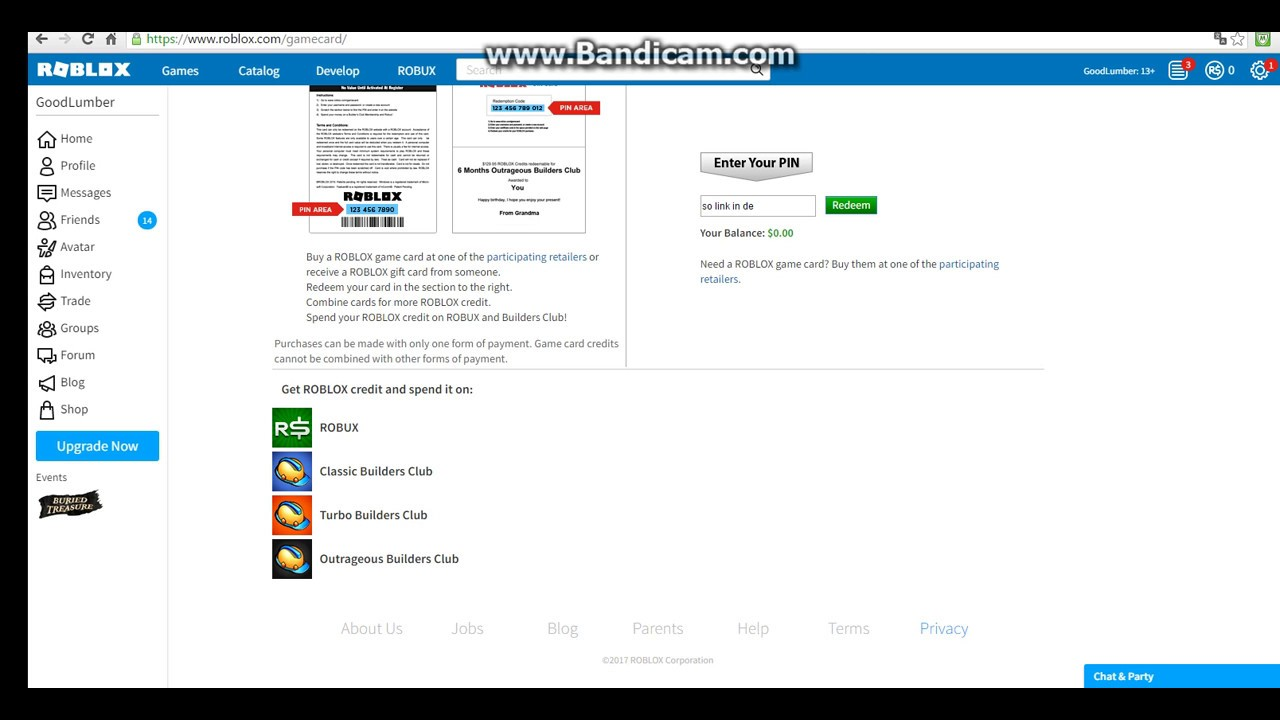 Roblox How To Make Card Code Generator Proof Youtube