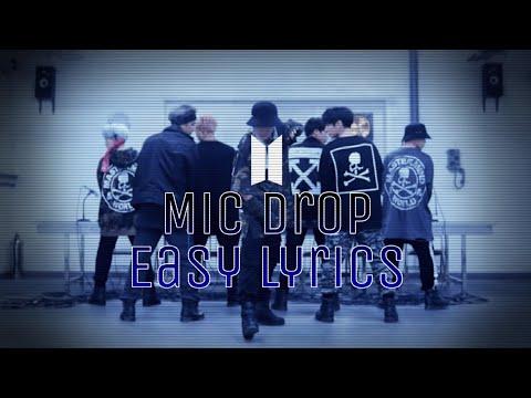 BTS Mic Drop (Steve Aoki Remix) Easy Lyrics