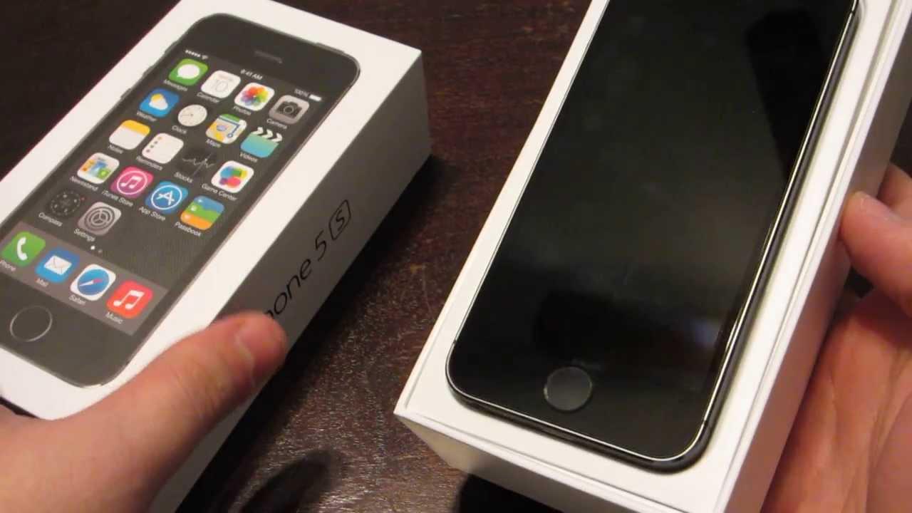 iPhone 5s Unboxing | Black - YouTube