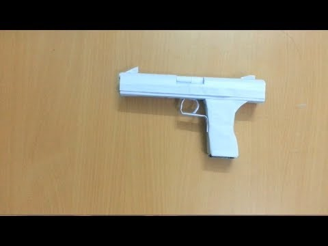 how to make a origami gun that shoots paper bullets
