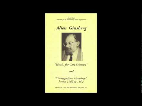 """Howl"" read by Allen Ginsberg on Feb 4, 1994 in Ann Arbor, Michigan"