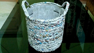 How to make a newspaper basket