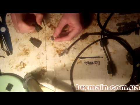 ремонт Hdmi кабеля перепайка разъёма