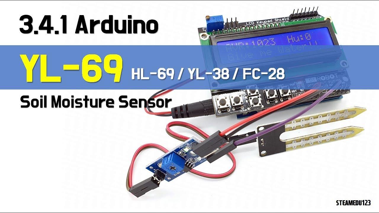 3 4 1  [SENSOR] ♡ Arduino YL-69 Soil Sensor