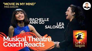 Musical Theatre Coach Reacts (LEA SALONGA & RACHELLE ANN GO) Movie In My Mind