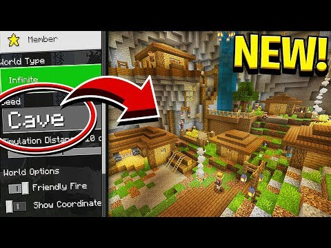 NEW CAVE VILLAGES UPDATE In Minecraft! (Pocket Edition, Xbox, PC)
