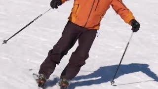 Урок 13 - Урок плавные повороты на лыжах
