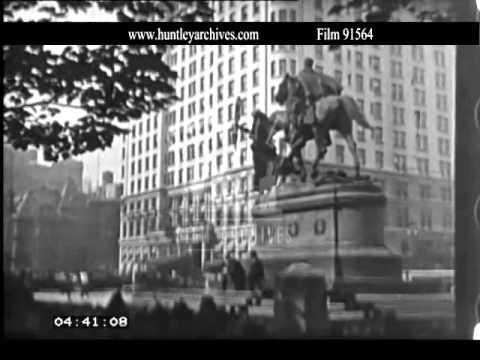 5th Avenue, New York, 1920's.  Archive film 91564
