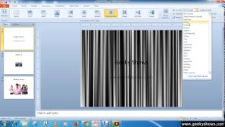 Microsoft PowerPoint 2010 Different Slide Transitions with Sound Effect