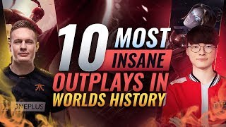 10 Most INSANE OUTPLAYS In Worlds History - League of Legends Esports