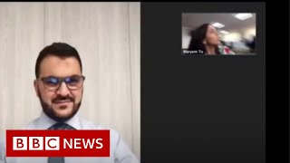 Beirut explosion: Moment blast hit BBC bureau - BBC News