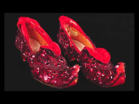 Judy Garland test Ruby Slippers & dress from The Wizard of Oz offered at Debbie Reynolds The Auction