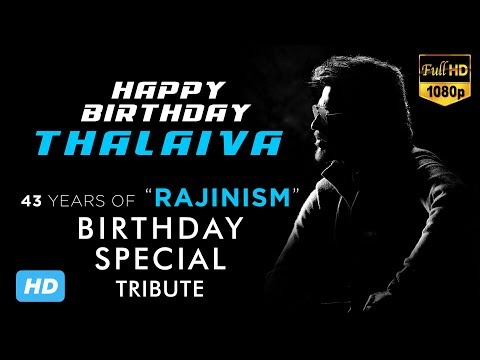 Superstar Rajinikanth | Birthday Special Tribute | Whatsapp Status | HD