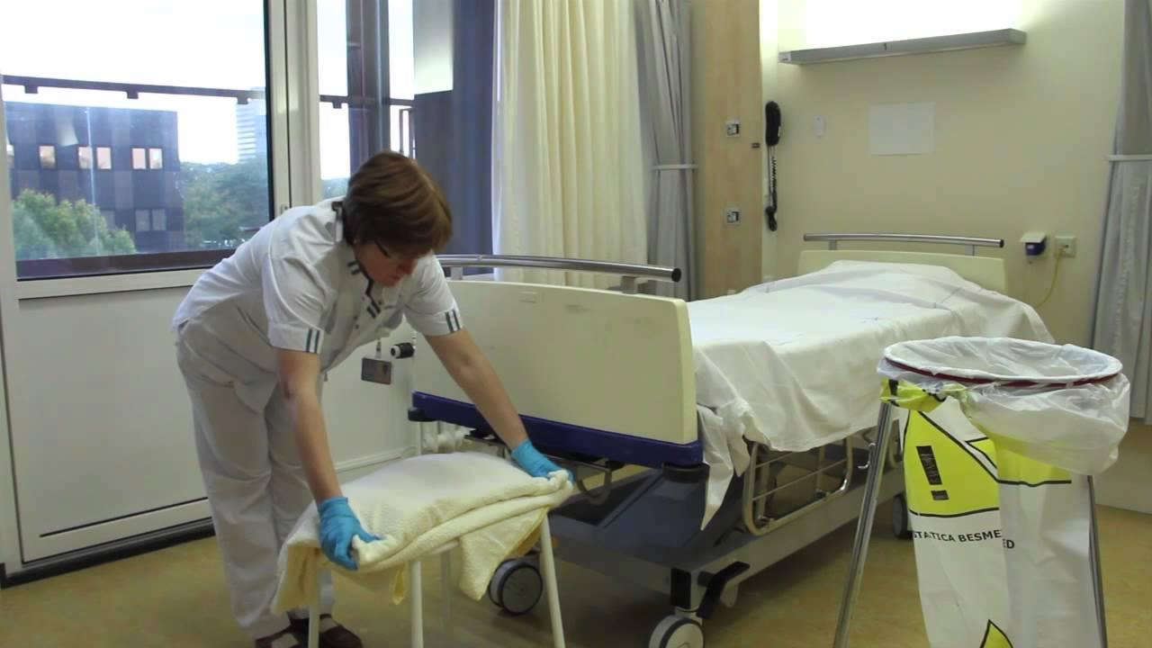 Bed afhalen van een met cytostatica besmet bed zonder