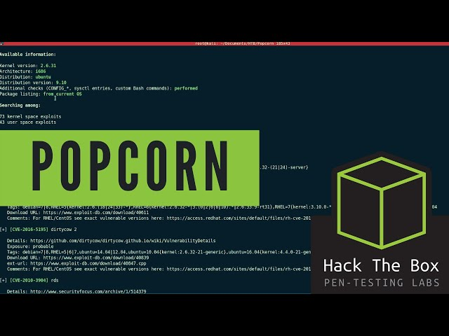 HackTheBox Walkthrough - Popcorn