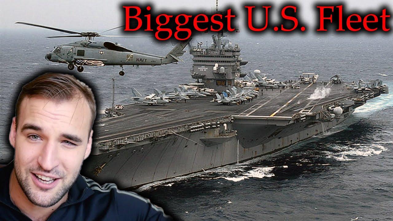 Estonian Soldier reacts to the biggest U.S. Fleet