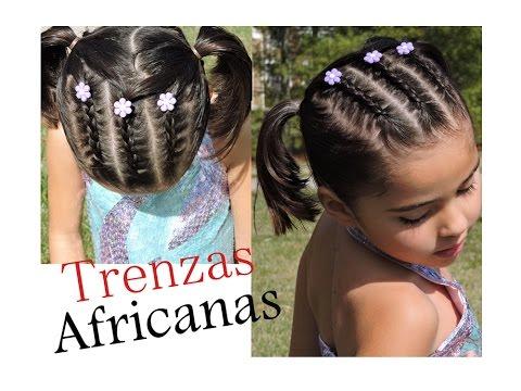 Trenzas Africanas Peinado Infantil Youtube