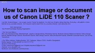 Canon Lide 110 Scanner Not Working