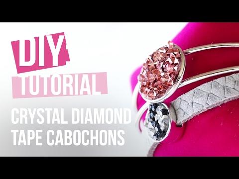 Sieraden maken: Crystal Diamond Tape Cabochons ♡ DIY