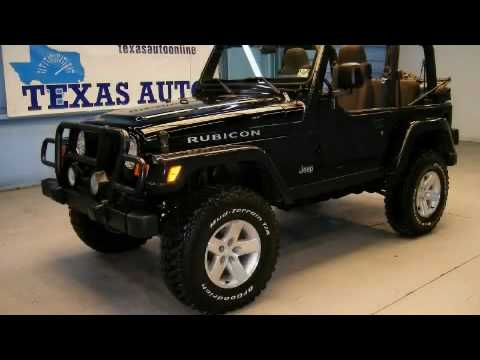 pre owned 2003 jeep wrangler rubicon dallas tx youtube. Black Bedroom Furniture Sets. Home Design Ideas