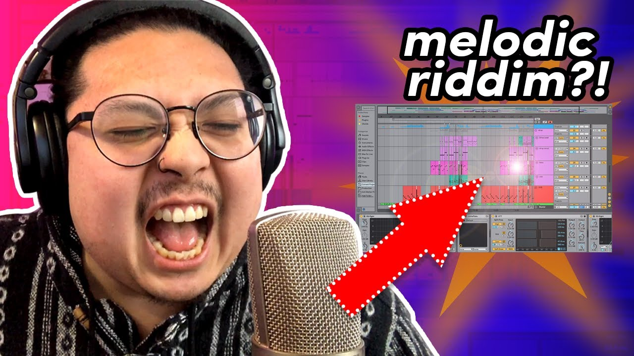 i made melodic riddim (chime) using my VOICE and stock plugins | Ableton Live Tutorial