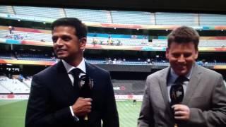 Rahul Dravid mocking aussie accent