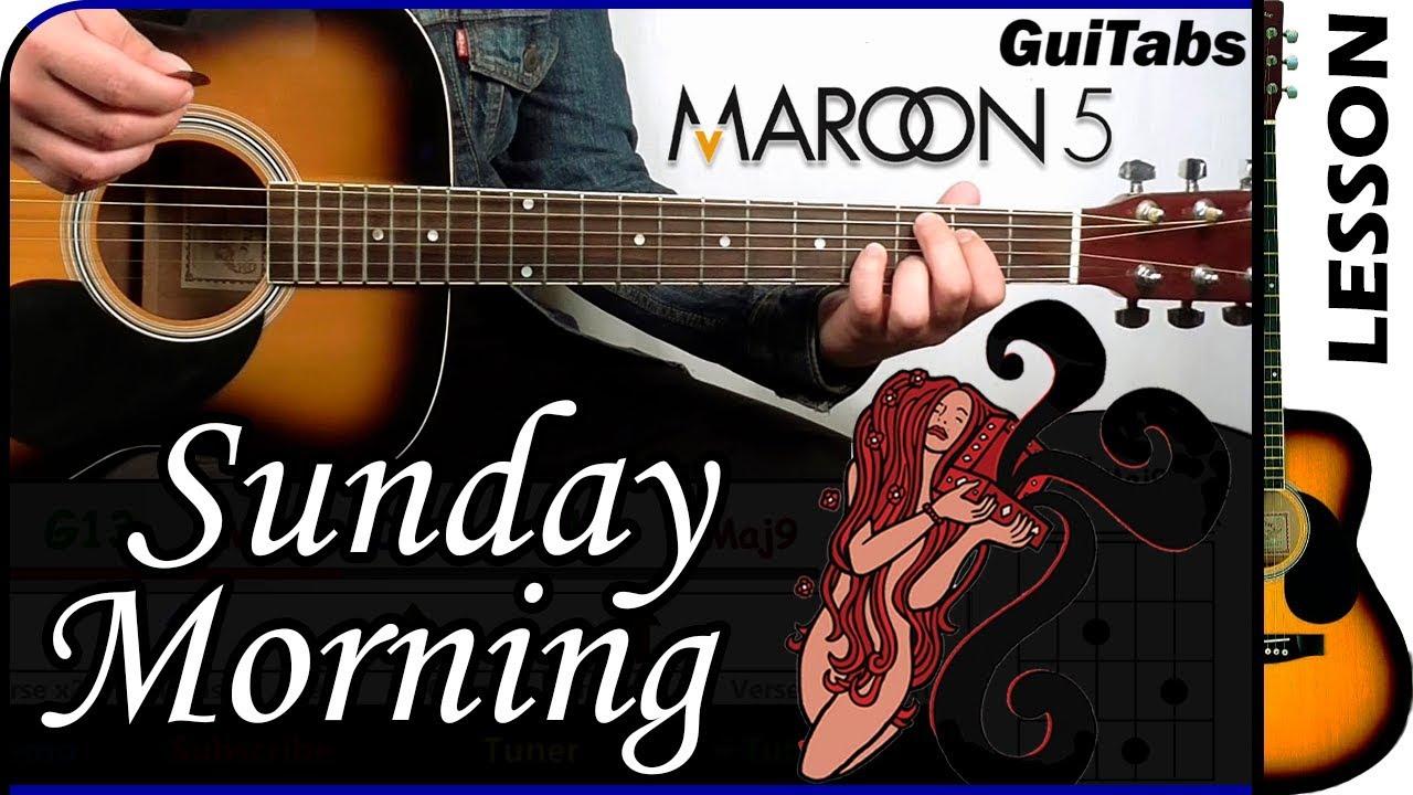 How To Play Sunday Morning Maroon 5 Guitar Tutorial Youtube