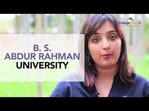 B. S. Abdur Rahman University - Chennai | www.collegedekho.com