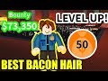 BACON HAIR GETS 70000 BOUNTY LEVEL 50 | Roblox Jailbreak Winter Update