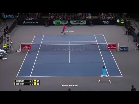 Great backhand winner from Dimitrov v Djokovic: 2016 ATP Masters 1000 Paris 3R