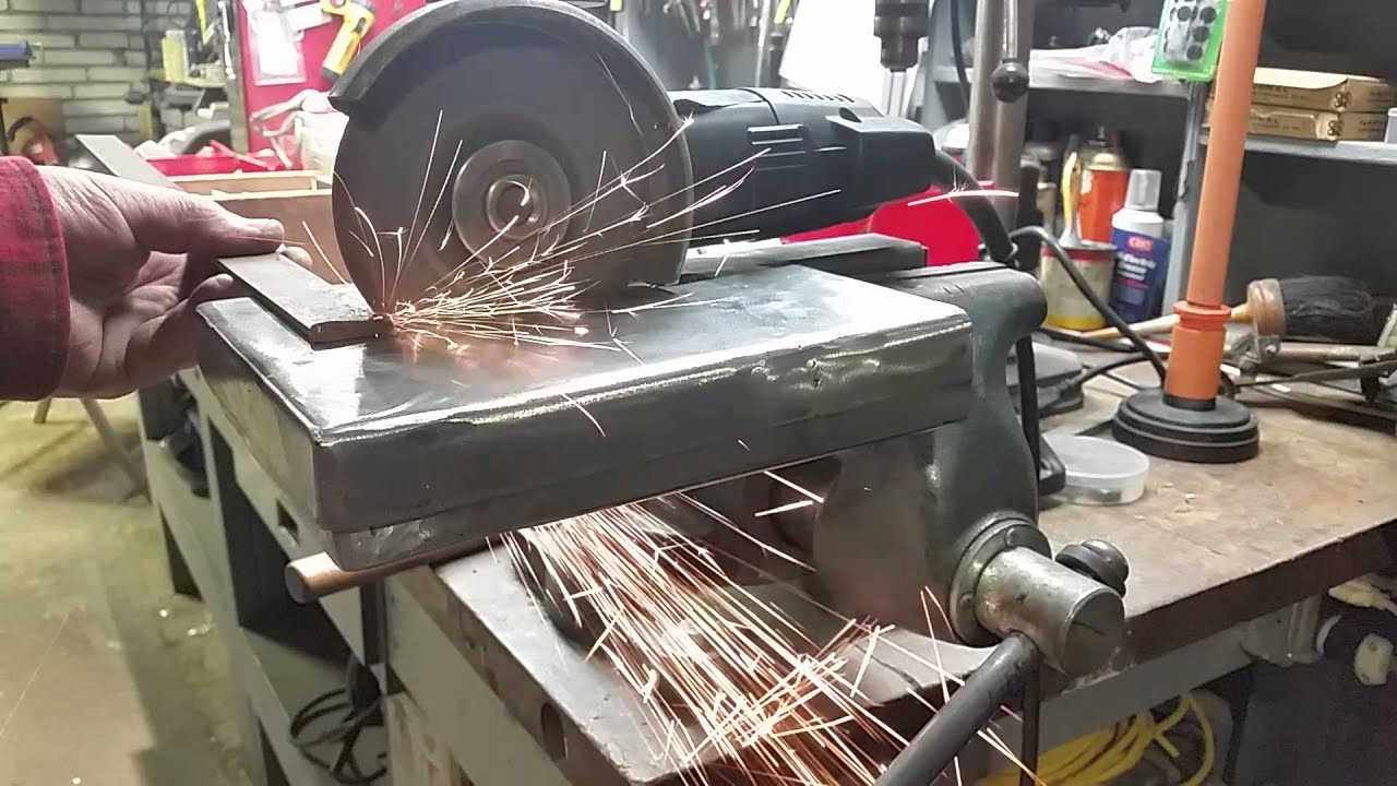 Diy 4 1 2 Inch Angle Grinder Stand Table 1 Youtube