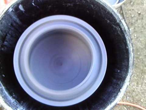 Home made PVC centrifuge bowl test.