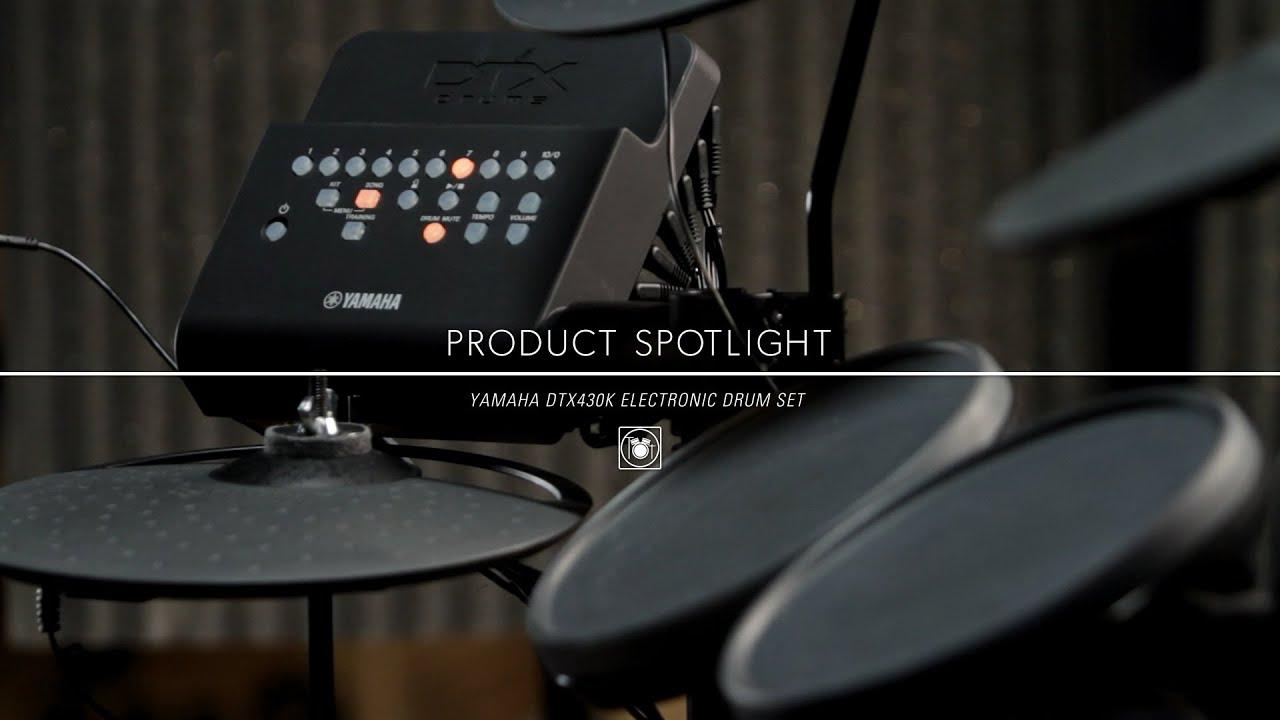 Yamaha Dtx430k Electronic Drum Kit Youtube