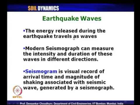 Mod-03 Lec-16 L16-Love Wave, Waves in layered medium, 3D case-Inclined wave, Earthquake Waves