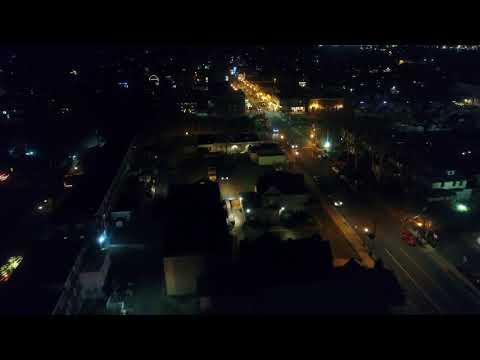 Drone Video Town of Audubon NJ Christmas Lights Entire Town
