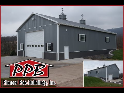 42' W x 80' L x 18' H - Garage by Pioneer Pole Buildings, Inc.