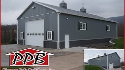 42' W x 80' L x 18' H - Garage by Pioneer Pole Buildings, Inc.