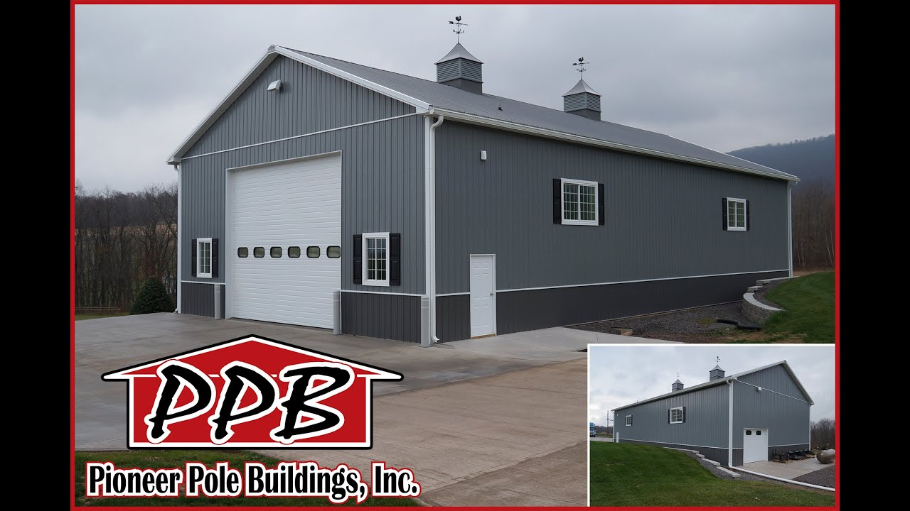 Pics Of Two Tone Metal Pole Barns Joy Studio Design