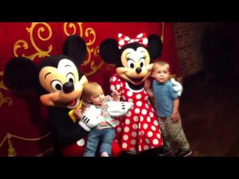Isaiah and Teresa Meet Mickey and Minnie