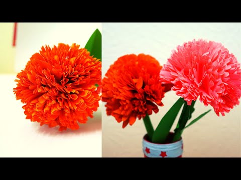 How to make paper flower-paper craft-DIY paper flower-flower making-Easy paper flower-paper craft