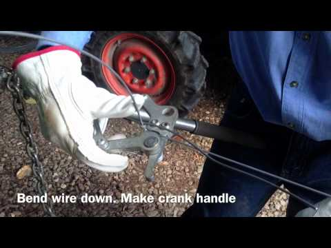 Tying Fencing Wire Speed Knot Youtube