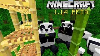 MINECRAFT 1.14 BETA -- Bamboo + Scaffolding + PANDAS + New Cats!!