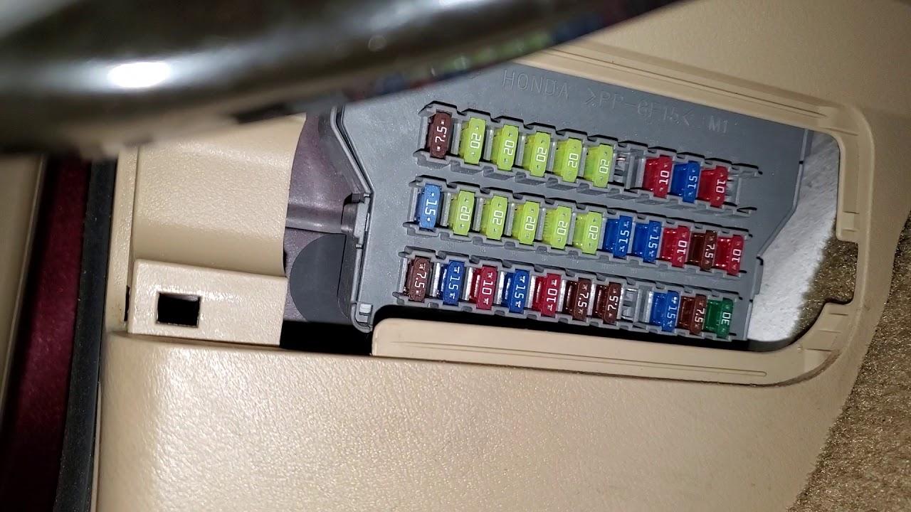 2010 Honda Odyssey Cigarette Lighter Fuse  Power Outlet Fuse  U0026 Relay