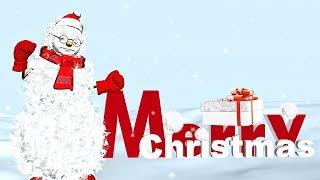 ⛄ Funny Merry Christmas greetings. Animation Christmas song