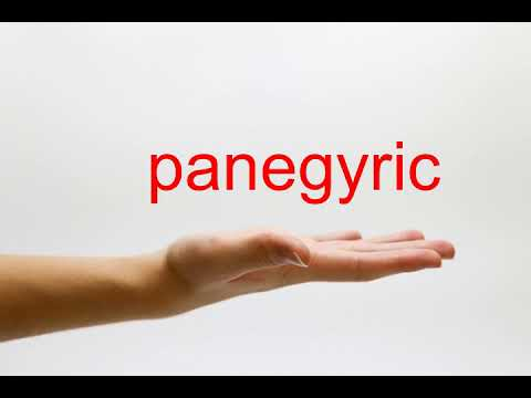 How to Pronounce panegyric - American English