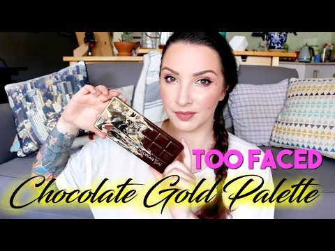 Too Faced Chocolate Gold Eyeshadow Palette REVIEW & SWATCHES